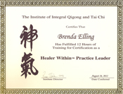 Healer Within Certificate